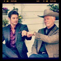 Larry Hagman (RIP) & Josh Henderson (John Ross & JR from the TV show Dallas)
