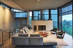 Flexform's Soft Dream sectional is the centerpiece of this modern San Francisco home.  #flexform #flexformny #newyork #home #interior #interiordesign #design #furniture #luxuryfurniture #sectional #sofa #couch #modern