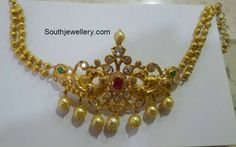 22 carat gold peacock choker cum armlet studded with uncut diamonds, emeralds and ruby. Gold Jhumka Earrings, Gold Choker Necklace, Pearl Earrings, Indian Jewellery Design, Indian Jewelry, Jewellery Designs, Jewelry Patterns, Gold Gold, Gold Bangles Design