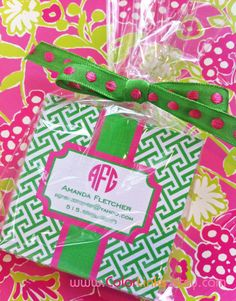 PREPPY PREPPY PREPPY pink and greek monogrammed by ColorLinks, $12.00
