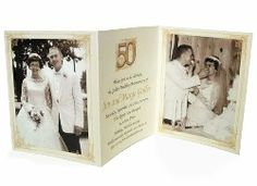 Naptime Productions tri-fold anniversary invitations are custom printed with your favorite photos and golden wedding anniversary party wording. 50th Anniversary Invitations, 5 Year Anniversary Gift, Parents Anniversary, Golden Anniversary, Wedding Anniversary Cards, Anniversary Parties, Wedding Cards, Valentines Gifts For Him, Photo Invitations