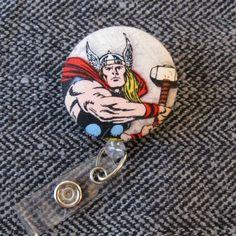 Thor Avengers Badge Reel by SailorBettyShop on Etsy, $6.00