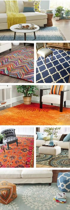 From the entryway to the bedroom, area rugs can complete the look of a room, set the tone, and add an extra layer of comfort—or all three! These rugs are on Wayfair.com.....but don't forget the RoomCraft throw pillows to complete the look!!!