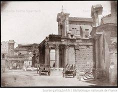 Foto storiche di Roma - Tempio di Antonino e Faustina Anno: 1850