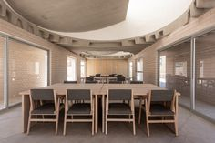 Apan Housing Laboratory, by MOS | Architect Magazine Arch Light, Architect Magazine, Conference Room, Dining Table, Furniture, Design, Home Decor, Decoration Home, Room Decor