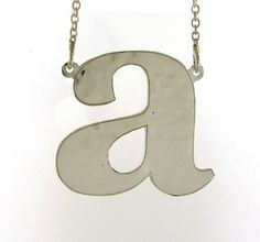 Sterling silver initial necklace by magichandjewelry on Etsy, $35.00
