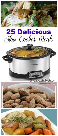 Make meal time easier with these 25 delicious slow cooker meals.
