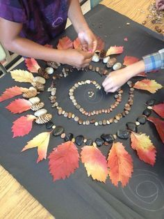 Exploring Spirals in Nature, and Andy Goldsworthy& Nature art. Exploring Spirals in Nature, and Andy Goldsworthys Nature art. Art Et Nature, Nature Crafts, Fall Crafts, Land Art, Art For Kids, Crafts For Kids, Arts And Crafts, Spirals In Nature, Nature Activities