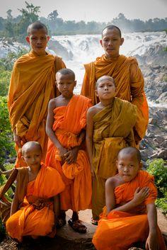 Monks in 4000 islands, Laos