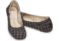 53d66e1e7f6 Black Grey Plaid Women s Ballet Flats why are these so expensive  gaaaaahh