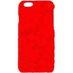 Dolce & Gabbana lace iPhone 6 case ($190) ❤ liked on Polyvore featuring accessories, tech accessories, red and dolce&gabbana