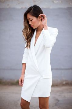 We've gathered our favorite ideas for Blazer Dress Song Of Style, Explore our list of popular images of Blazer Dress Song Of Style. Long Blazer Jacket, Blazer Dress, Jacket Dress, Street Style 2014, Song Of Style, Tuxedo Dress, Black Long Sleeve Dress, Haute Hippie, White Fashion