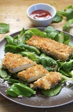 Nuggets de tofu Katsu et leur sauce vegan végétalien                                                                                                                                                                                 Plus