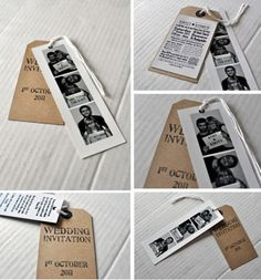 cute save the date photo strips