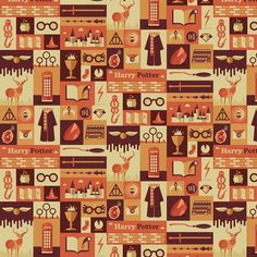 Harry Potter Icons fabric by sherlocked_potter_whovian on Spoonflower - custom fabric