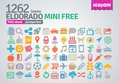 Eldorado mini free icon set