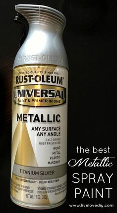 The BEST metallic spray paint - creates the most realistic finish!! Check out the other great paint tips in this post, too!