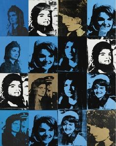 Andy Warhol, Sixteen Jackies, 1964, via Sothebys.com