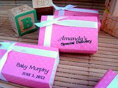 Custom Baby Girl Shower Favors by Sosia on Etsy, $20.00