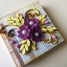 Paper Quilling on a wooden gift box <3 www.facebook.com/MagicFingers.ArtnCraft
