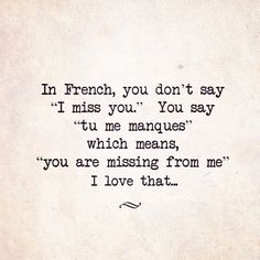 ... ah, the French! They do know how to speak the language of love