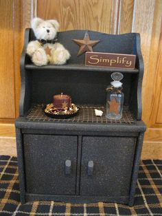 Primitive Grubby Hutch - This may work for my Pioneer Day Store Decor Hutch!