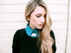 Genius DIY shirt collar!