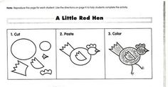 Little Red Hen role-play masks (free story resources