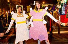 Halloween Costume - Paper Doll Cut-Outs