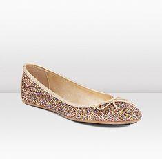 Jimmy Choo -- Walsh glitter ballet flat... LOVE these!!!