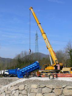 Fase di posizionamento della turbina