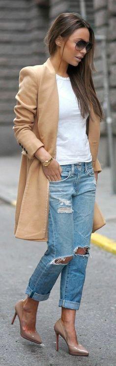 Le jean boyfriend femme - 70 idées comment le porter?                                                                                                                                                     Plus