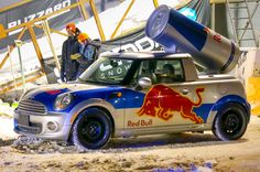 It's Snow Days at Banff National Park - Red Bull Mini in the snow