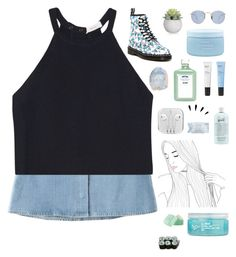 """""""208"""" by foreveryoungkk ❤ liked on Polyvore featuring Chicnova Fashion, A.L.C., Dr. Martens, Ray-Ban, Aveda, Boots No7, John Allan's, Old Navy, philosophy and First Aid Beauty"""