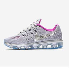 Custom Bling Womens Nike Air Max Tailwind 8 White by TheDecoKraft 08a5f48954