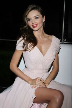 MK Pink dress, Red lips