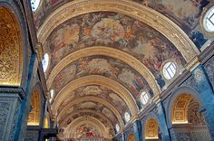 Malta, Inside ValettaCathedral