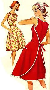Image result for simplicity apron patterns Diy Clothing, Clothing Patterns, Dress Patterns, Apron Patterns, Vintage Outfits, Vintage Dresses, Vintage Fashion, Vintage Style, Sewing Aprons