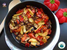 Tris di verdure al forno con cipolla rossa