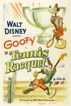 Goofy in Tennis Racquet
