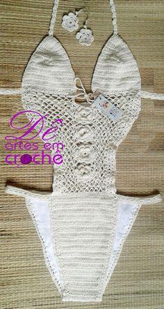 Body Flor Cortininha em Crochê by Dê Artes em Crochê http://www.elo7.com.br/body-flor-em-croche/dp/633DB1