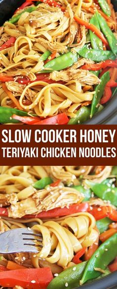 Love slow cooker recipes? Try this delicious Honey Teriyaki Chicken Noodles perfect for weeknight dinner with little effort!