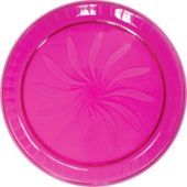 Plastic Pink Swirl Platter 16in - Party City