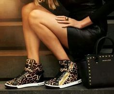 No a lover of high top shoes, But if its leopard .......thats another story.