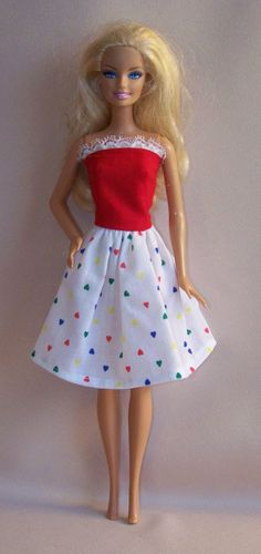 Handmade Barbie Clothes Red Bodice with by PersnicketyGrandma, $5.00