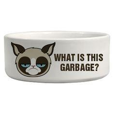 A Grumpy Cat Bowl: Custom Ceramic Pet Bowl
