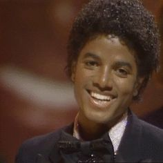 "The most adorable smile ever! A young Michael Jackson during the ""Off The Wall"" era."