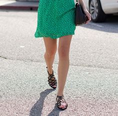 cute skirt and sandals