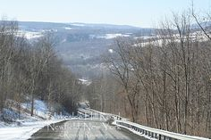 Many of the roads in the Finger Lakes at very steep. This is one of them. But the view of the hills beyond is fantastic.