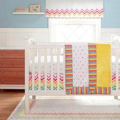 Walmart: Migi Rainbow Crib Bedding Set - Value Bundle Chevron Baby Bedding, Rainbow Bedding, Girl Crib Bedding Sets, Crib Sets, Nursery Bedding, Baby Bedroom, Kids Bedroom, Rainbow Room, Rainbow Nursery
